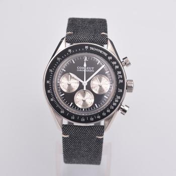 2019 corgeut Mens Watches Top Brand Luxury Men's Military Sports clock 24 hours full chronograph Multifunction Quartz Wristwatch