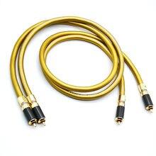 Hi fi para kabli Hifi audio Cardas Hexlink złoty 5-C z włókna węglowego wtyczka rca przewód łączący kabel audio