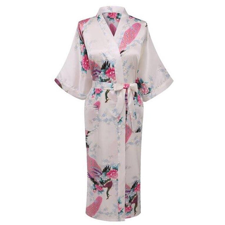 Sexy Flower Women Satin Kimono Robe Gown Bridesmaid Bride Wedding Bath Robe Dress Long Nightgown Print Sleepwear Plus Size XXXL