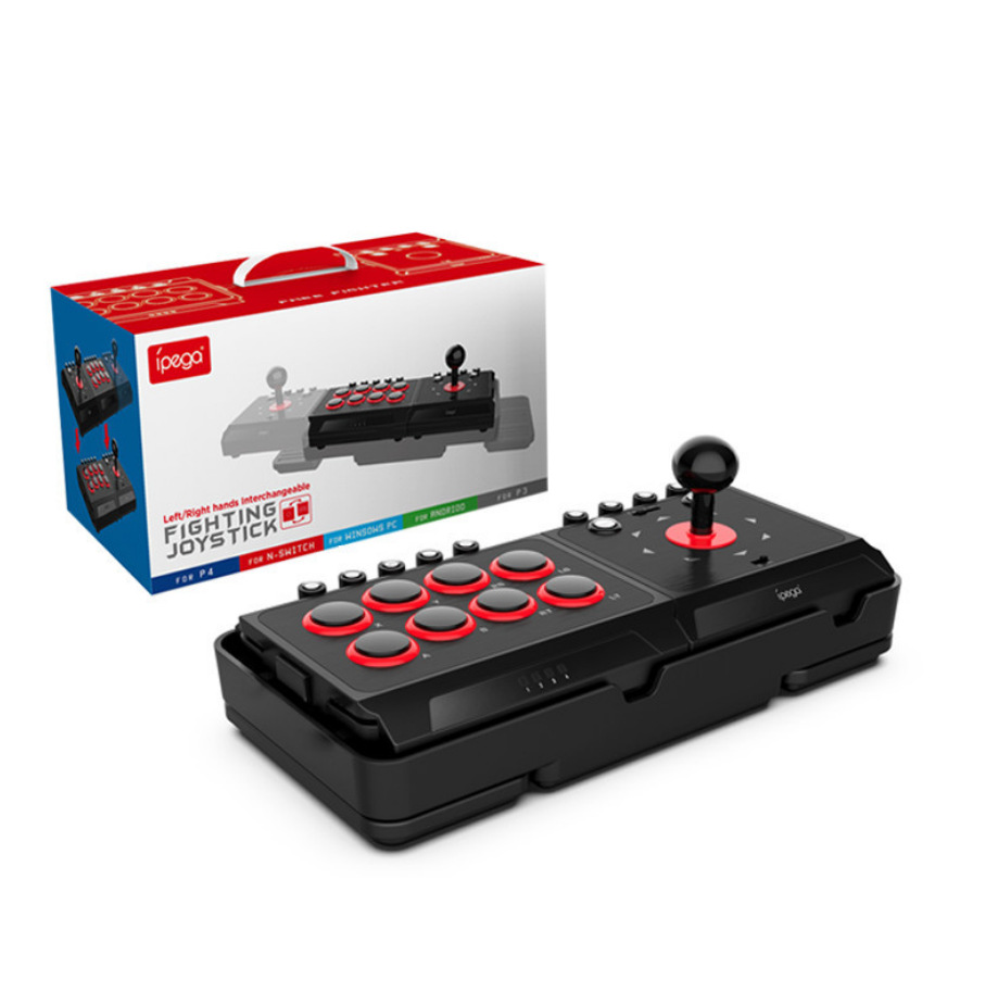 Contrôleur de jeu de bâton de combat de Station d'arcade de Joystick de combat câblé par USB de DC5V avec la Macro de Turbo pour le commutateur PS4/PS3/NS/Android/PC - 1