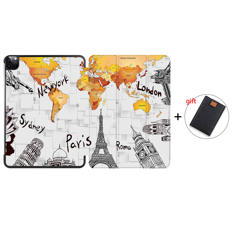 IP02 Other MTT Case For iPad Pro 11 inch 2nd Gen 2020 Funda A2228 A2231 Slim PU Leather