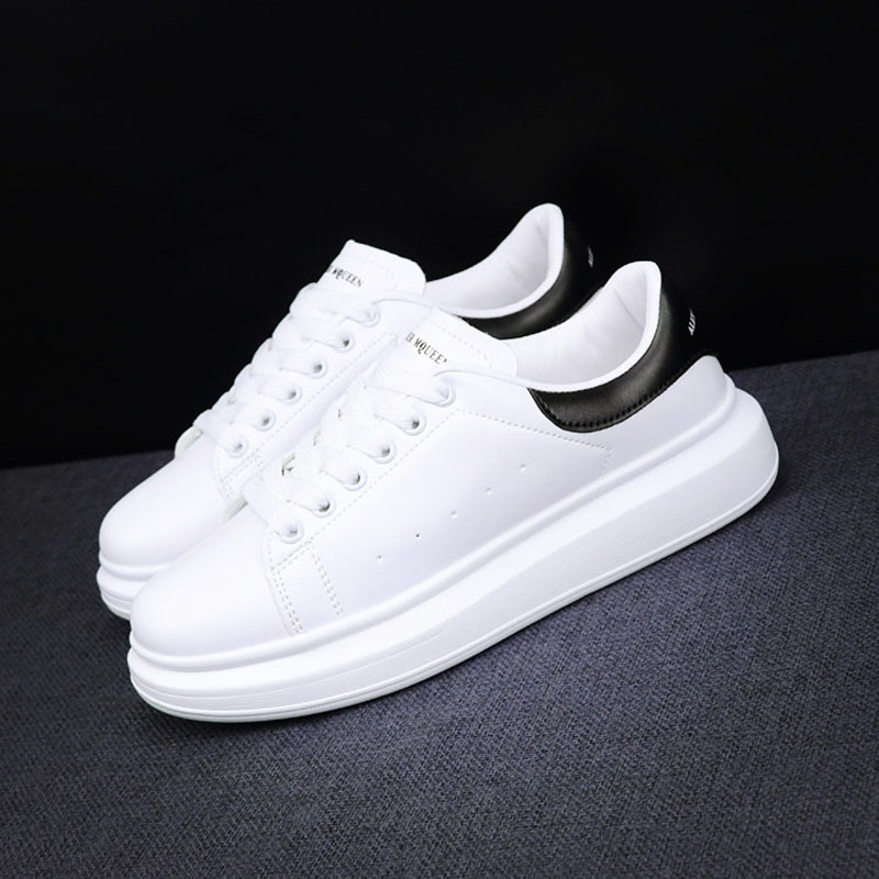 Women Sneakers  2019 New Fashion Spring Autumn  Flats Lovers White Casual Shoes Leisure Lace-up Platform Single Shoes