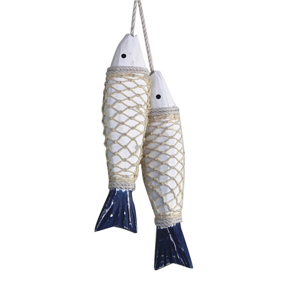 Handcrafted Mediterranean Fish Nautical Home Decorative Hanging Ornament Home Garden Patterer Home Decor