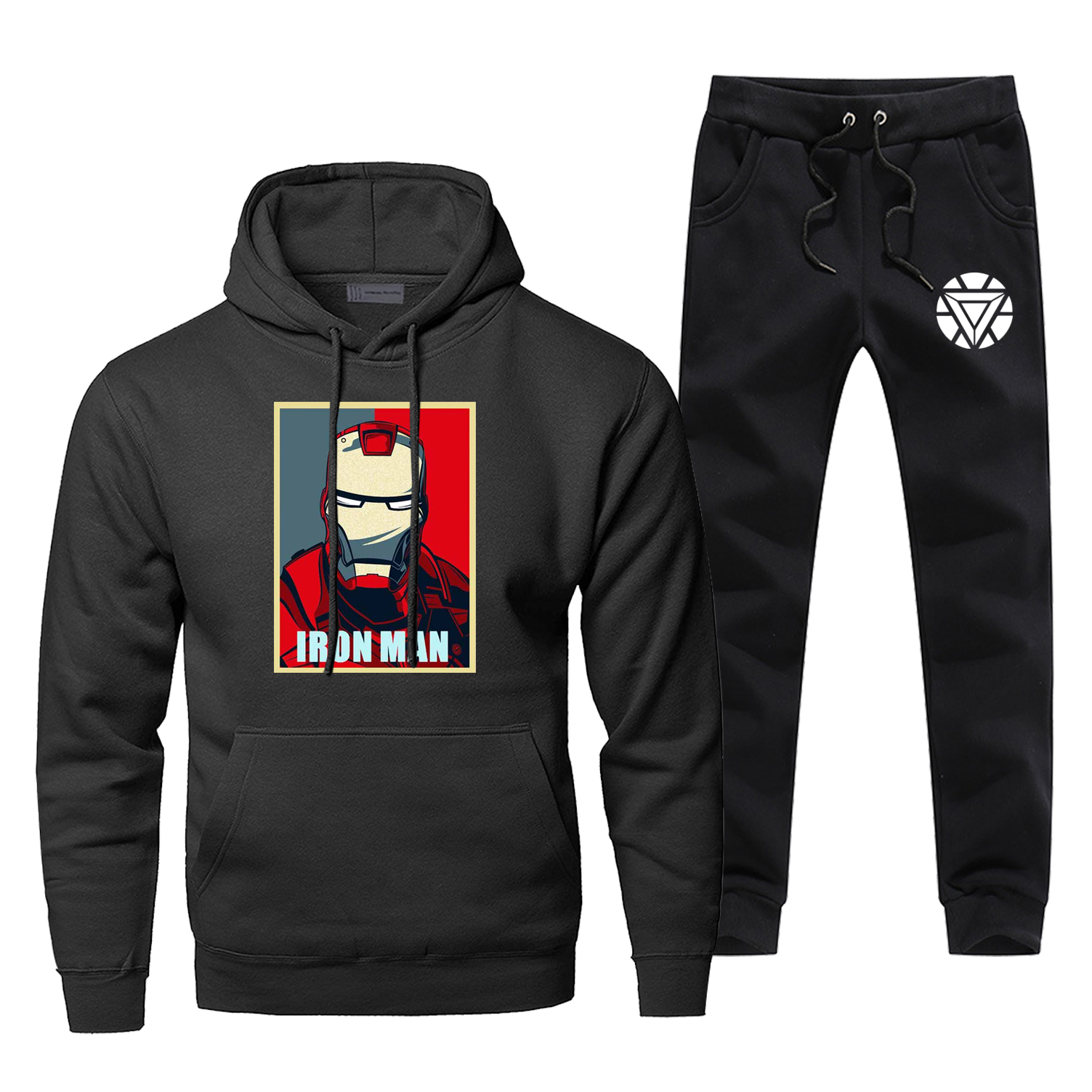 Iron Man Tony Stark The Avengers Hoodie Pants Set Men Sets Suit Sweatshirt Sweatpants Sportswear Autumn Pullover 2 PCS Tracksuit