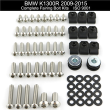 цена на For BMW K1300R 2009 2010 2011 2012 2013 2014 2015 Motorcycle Complete Full Fairing Bolts Kit Fairing Clips Nut Stainless Steel