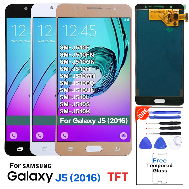TFT For Samsung J5 2016 J510 <font><b>J510FN</b></font> J510F <font><b>display</b></font> lcd Screen replacement for Samsung J510MN J510GN mobile phone lcd PANTALLA image