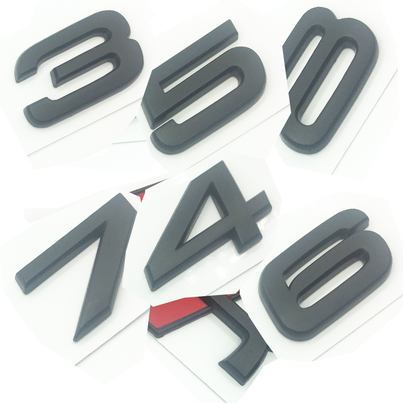 Matte Black Emblem for Audi S 3 4 5 6 7 8 s3 S4 s5 s6 s7 s8 3D Trunk Logo Badge Compact OEM ABS Nameplate compatible image