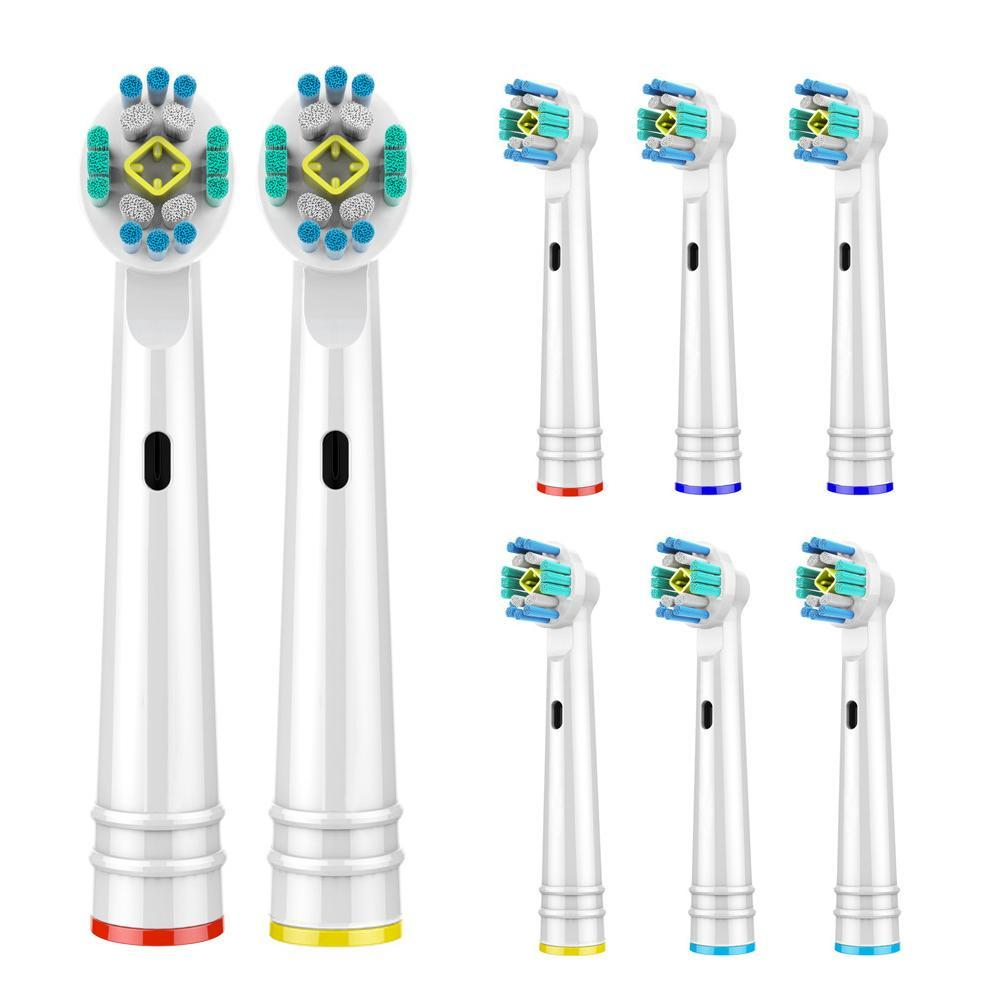 4pcs Replacement Brush Heads For Braun Oral-B Electric Toothbrush fit D4510 D12013 D12013w D12513 D36 OC18 OC19 OC20 Type 4731 image