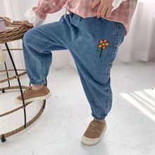 Dropshipping Summer Baby Girls Jeans Pants Kids Clothes Cotton Casual Children Trousers Teenager Denim Boys Clothes jeans modis m182d00152 for boys kids clothes children clothes tmallfs