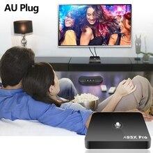 A95X pro Android 7,1 Smart tv Box четырехъядерный 2 ГБ/16 ГБ Смарт медиаплеер AU