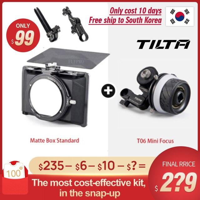 INstock Tiltaing Mini Matte Box with ff t06 mini follow focus for DSLR mirrorless style cameras Tilta lens hood accessories