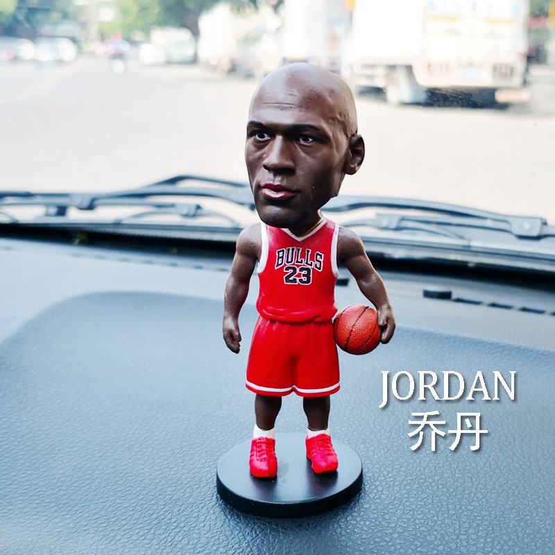 10CM Dolls JORDAN  Basketball Star  Car Deco Gift Resin Figurine Birthday gifts