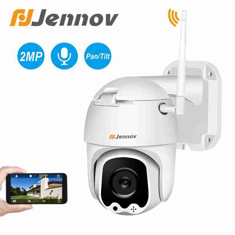 Jennov 2MP Surveilance P2P WIFI Camera Outdoor 1080P Speed Dome IP Camera CCTV Security Wireless Audio IR-Cut Home Weatherproof