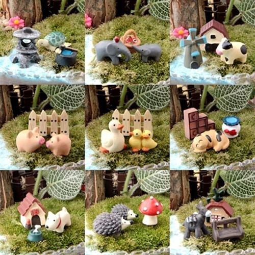 3Pcs Dollhouse Bonsai Craft Micro Landscape DIY Flower Pot Miniature Decoration Garden Ornament Miniature Fairy Garden Decor
