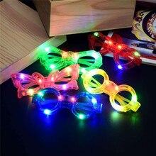 Светодиодный вспышка световой слепой очки светильник маска для глаз мигающие светящиеся очки для свадьбы карнавальный танцевальный бар вечерние Рождественская игрушка