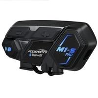 Fodsports M1 S Pro Helmet intercom Headset Motorcycle Waterproof Intercom Bluetooth interphone 8 Rider 1200M Intercomunicador