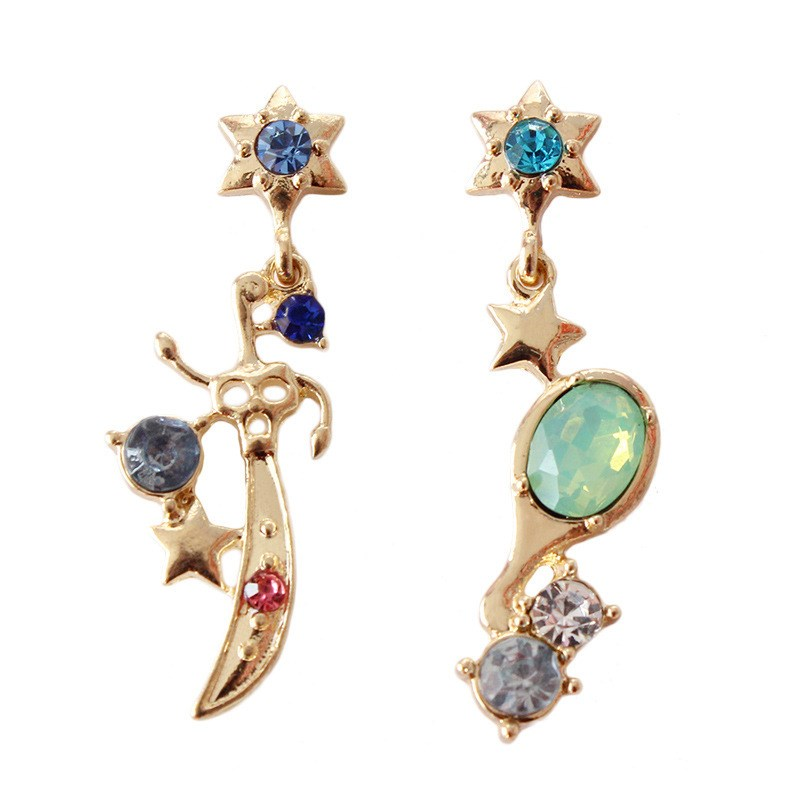 Anime Sailor Moon Cosplay Earring Uranus Sailor Neptune Talisman Stud Earrings Accessories Prop