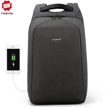 Tigernu Men Fashion 15.6 inch Anti theft Waterproof Business Laptop Backpacks Casual Male School Backpacks GrilsSchoolbag