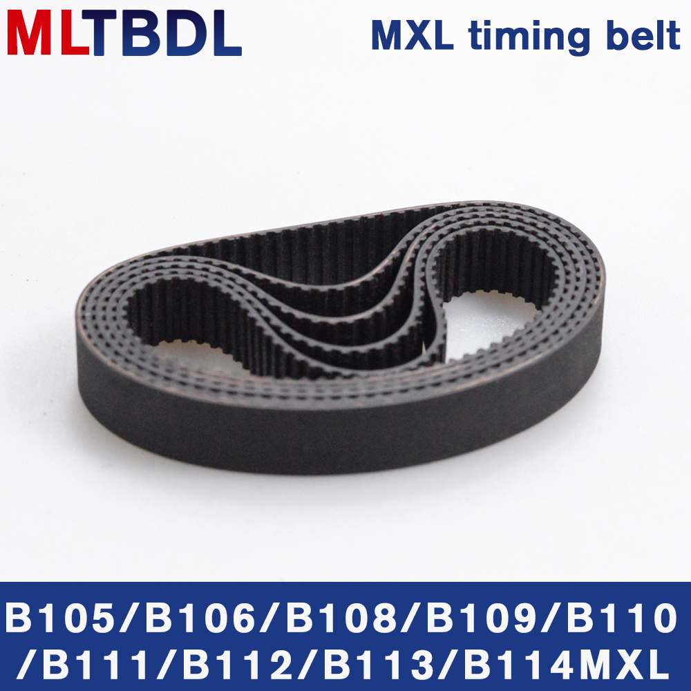 5/10pcs <font><b>MXL</b></font> Timing <font><b>belt</b></font> B105 B106 B108 B109 B110 B111 B112 B113 B114 Width 6/10mm Closed Loop rubber Synchronous <font><b>belt</b></font> 88 90mxl image