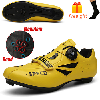 Discolor Cycling Shoes Man MTB Mountain Bike Shoes SPD Cleats Road Bicycle Shoes Sports Outdoor Training Cycle Sneakers 7