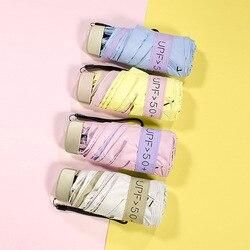 Obecnie dostępne w sprzedaży hurtowej Mini kreatywny Ultra światła pięć krotnie parasol składany  odporna na słońce w każdych warunkach pogodowych parasol customizab na