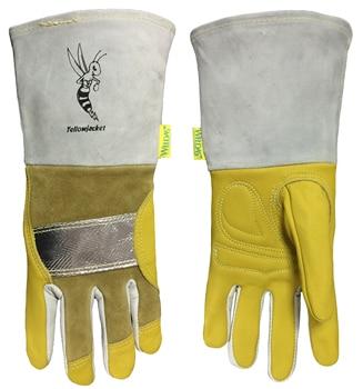 Welding Gloves Heat Resistant Welder Glove Cowhide Aluminum Foil Heat Proof TIG MIG Leather Work Glove leather work glove mig tig safety glove premium grain cow leather welding glove