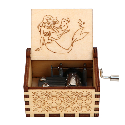Гравировка ручной работы деревянная Настя музыкальная копилка подарок на день рождения на Рождество, дочь, подарки на день рождения для влюбленных - Цвет: UNDER THE SEA 4