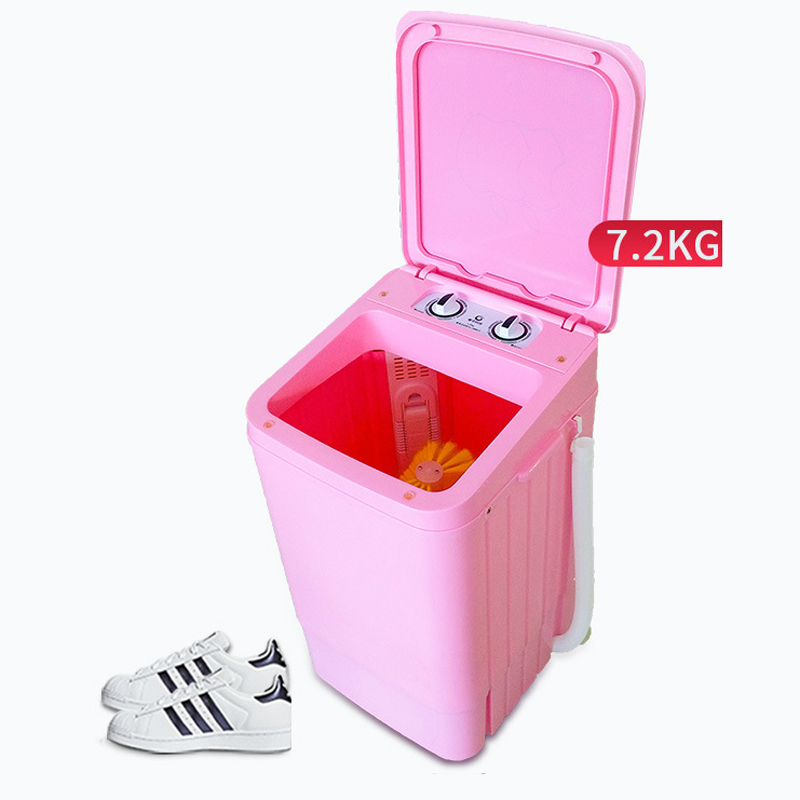 7.2kg Shoes Washer Mini Washing Machine For Shoes Semi-automatic Electric Mini Shoes Washer And Dryer Machine Shoes Brusher 220V