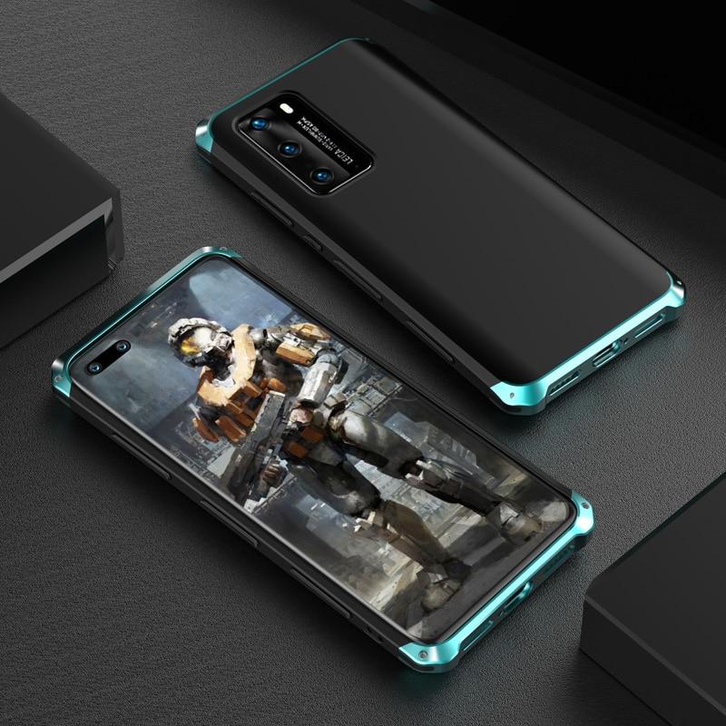 Роскошный противоударный металлический чехол для Huawei P40/ P30/ P20/ Pro, тонкий жесткий алюминиевый и Гибридный чехол из поликарбоната для Huawei P40 Pro, чехол|Специальные чехлы| | АлиЭкспресс