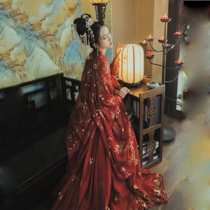 Image 5 - Red Hanfu Dress Folk Dance Costume Chinese Traditional National Fairy Costume Ancient Han Dynasty Princess Stage Outfits SL1719