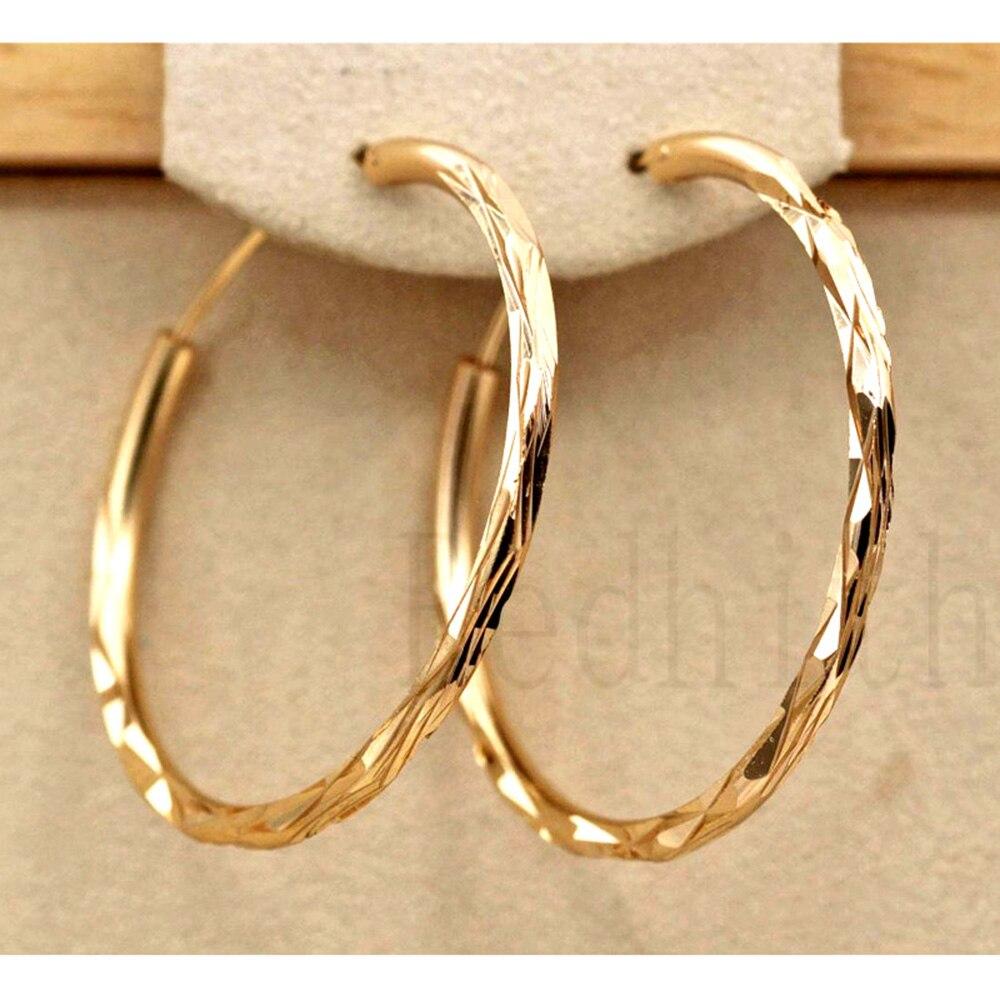 Boucles d'oreilles à la mode pour femmes or rempli géométrie Concave et convexe femmes Pageant boucles d'oreilles bijoux de mode