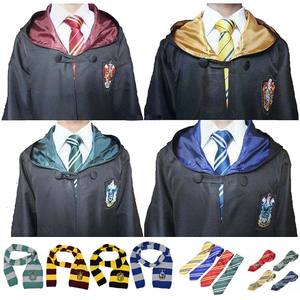 Cosplay Costume Potter Robe Cloak with Tie Scarf Potter Costume Hermione Halloween Accessories Party Robe Suit