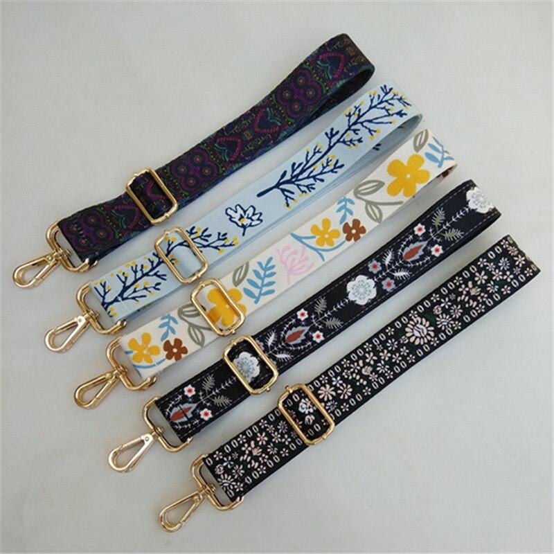 Fashion Retro Luxury Detachable Adjustable Bags Strap Nylon Women Handbag Shoulder Bag Handle Buckle Belts Parts Accessories