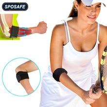 Sposafe 1 pçs ajustável tennis cotovelo apoio guarda pads golfista cinta cotovelo dor lateral síndrome epicondylite cinta