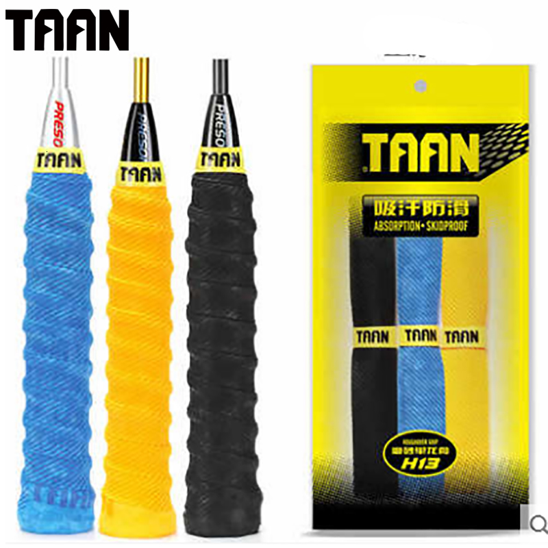 Taan 3pcs/pack Tennis Racket Keel Adhesive Overgrip Viscosity Breathable Sweat For Badminton/tennis Racket H12/h13