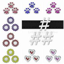 1pc 8mm sunflower dog cat bear paw heart Slider Charms Fit Pet Collar DIY Wristband Bracelet Women Men Jewelry Christmas Gifts(China)