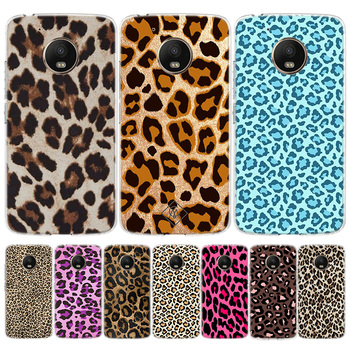 De moda de tigre leopardo Pantera fresco teléfono caso para Motorola Moto G8 G7EU de E6 G6 G5S G5 E5 G4 E4 Plus jugar una acción X