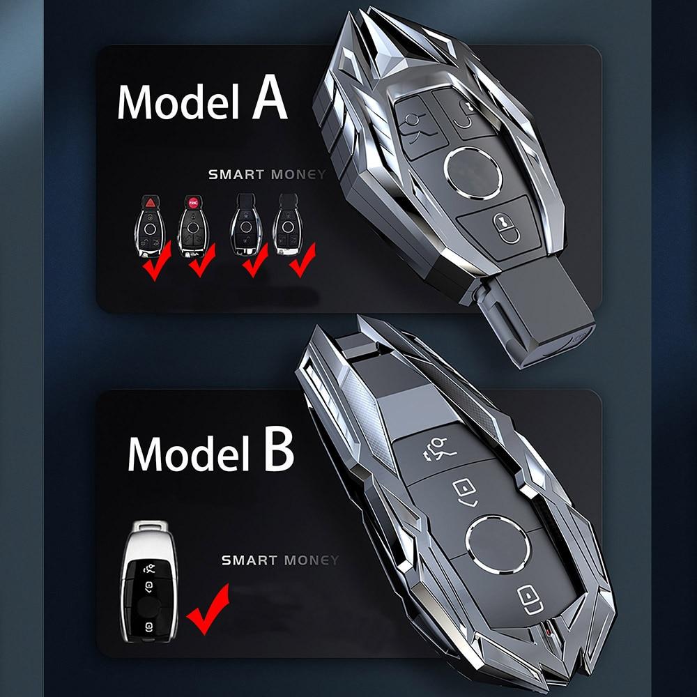 B GLK V GL and ML R C Car Key Case Cover Key Bag f/ür Mercedes Benz Car Key Case Cover Zinc Alloy Car Key Case with Keychain for Benz Class A GLS S GLE GLC AMG Black E GLA