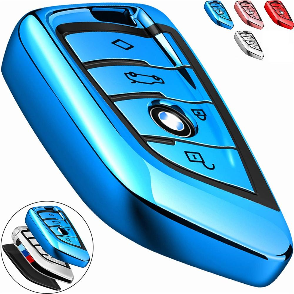 Rush Sale  For BMW Key fob Cover Key Fob Case for BMW 2 5 6 7 Series X1 X2 X3 X5 X6 Premium Soft TPU Anti-dust Full Protection