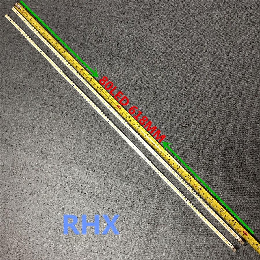 4Pieces/lot 80LED 618MM LED Backlight Strip SLED 2010SVS55 For Screen LTF550HJ03 LTF550HQ02 UA55C6200UF LJ64-02386A LJ64-02391A