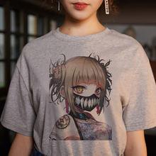 Camiseta hentai himiko himiko toga tshirt gráfico topos camisetas feminino nova camisa de impressão de harajuku t das mulheres meu herói academia anime senpai