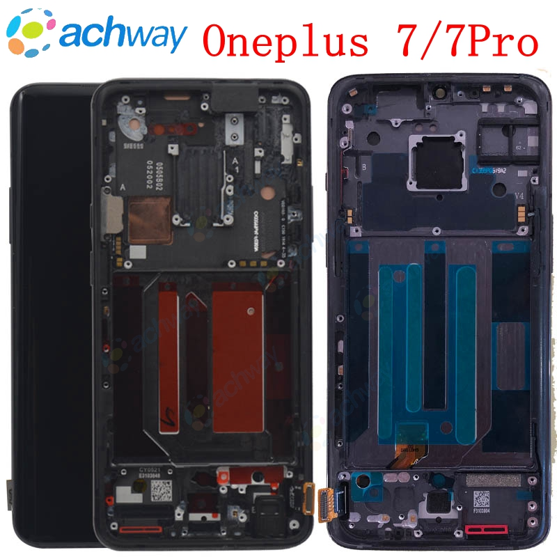 Original AMOLED LCD Screen OnePlus 7 Pro LCD Display Screen Touch Panel Digitizer OnePlus 7 Replacement Parts One Plus 7 LCD
