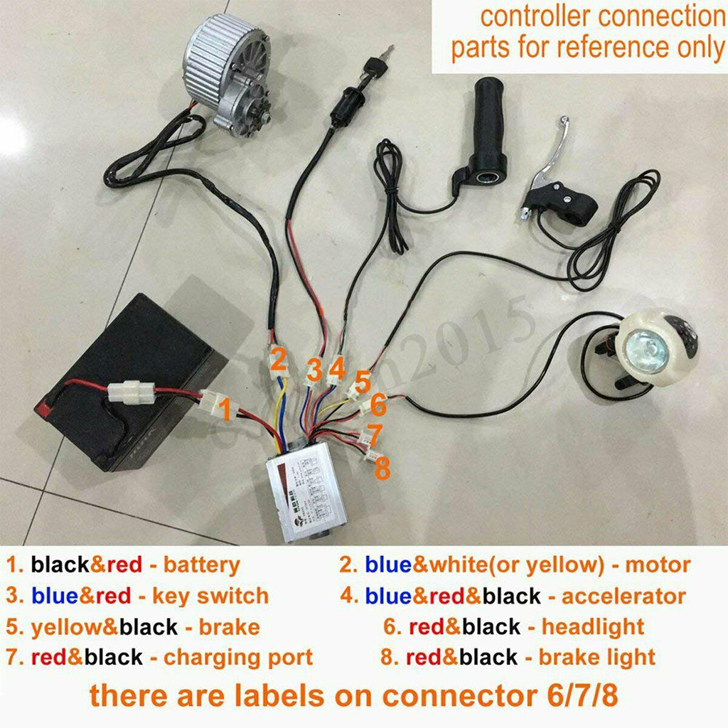250W 24V Electric Bike Conversion Kit Refit Motor 22-28/'/' RearController DIY Hub
