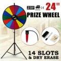 60 см вечерние призовые колеса Editable сухое стирание спин Win Fortune спиннинг стенд игра