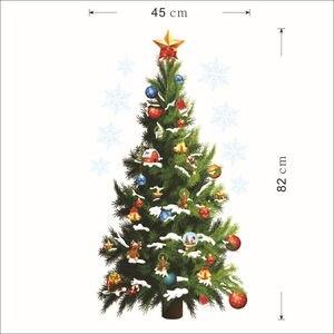 Image 5 - Cây Giáng Sinh Với Quà Tặng Tiệc Lễ Hội Trang Trí Dán Tường Ngôi Sao Miếng Dán Trang Trí Nhà Đảng Đề Can Phòng Khách