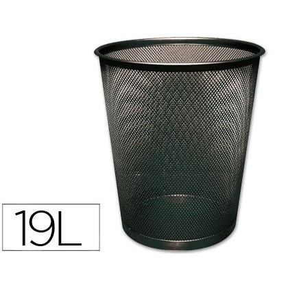 BIN METALICA Q-CONNECT BLACK GRID 295X345MM