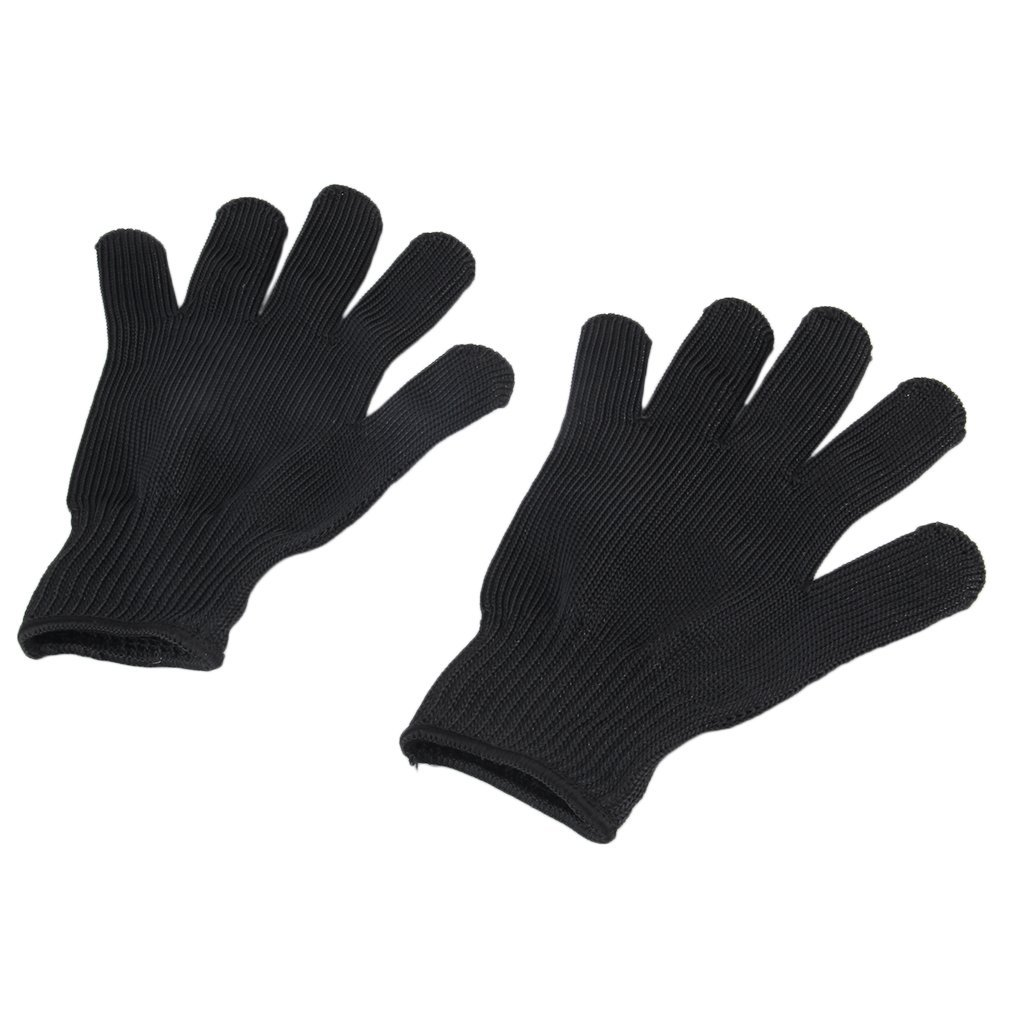 1 Pair Anti-cut Gloves Soft Stainless Steel Wire Cut Resistant Anti-static Gloves Safety Protective Metal Mesh Gloves