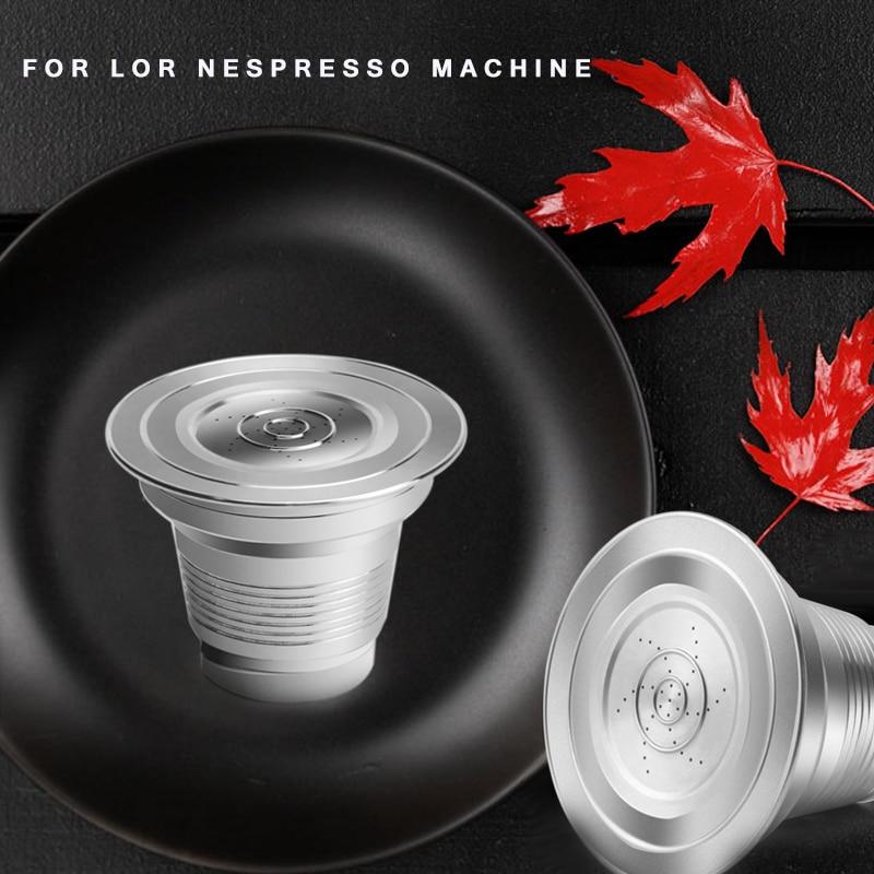 For Nespresso LOR  Machine Reusable Coffee Filter For Nespresso Coffee Capsules Crema Coffee Powder  Refillable  Basket