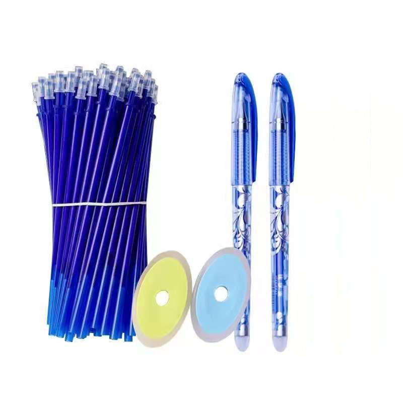 0.5mm Blue Black Ink Gel Pen Erasable Refill Rod Erasable Pen Washable Handle School Writing Stationery Gel Ink Pen