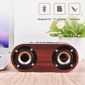 Image 3 - HIFI עץ Bluetooth רמקול AUX קלט TF כרטיס השמעת אלחוטי סאב נייד בס טור